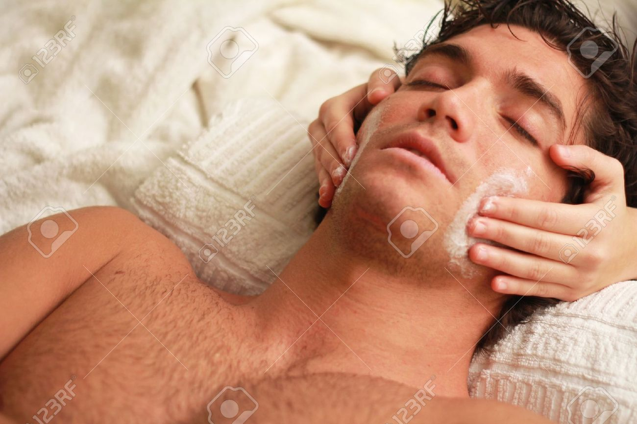 11864888 Relaxing Facial Massage To An Handsome Young Man At The Spa Stock Photo Highlands Day Spa North